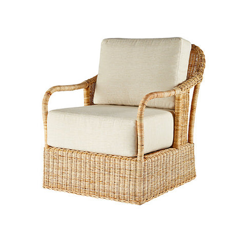 Natural Rattan Lounge Chair