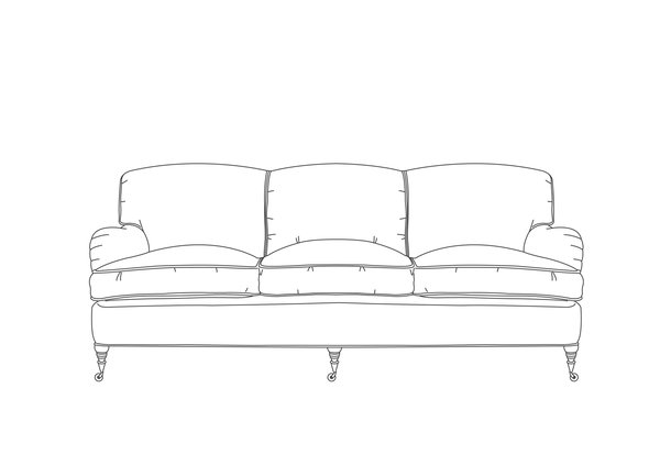 English Saddle Arm Sofa