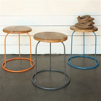 The Graham Stool- Orange