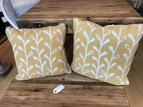 Galbraith & Paul Yellow Print Pillows