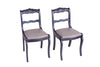 Vintage Dining Chairs Refurbished (S/2)