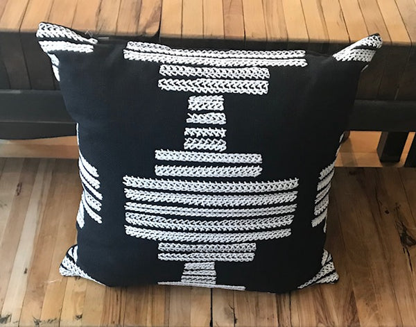 Pair of Black and White Schumacher Pillows