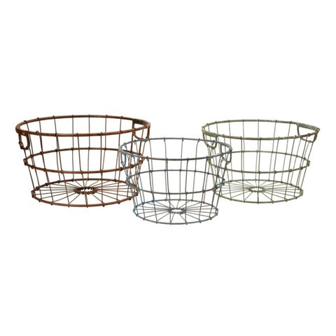 Metal Baskets - Set of 3