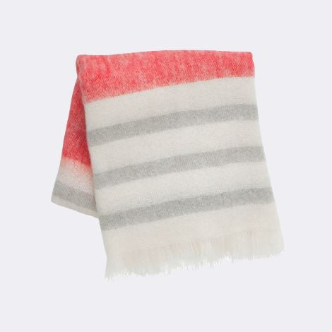 Mohair Throw Blanket- Red