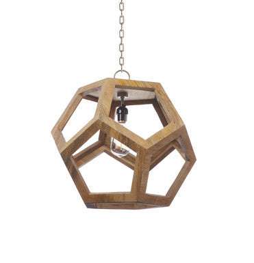 Geometric Wood Pendant