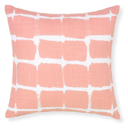 Pink Grids Pillow