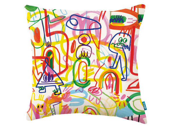 Rainbow Scrawl Pillow