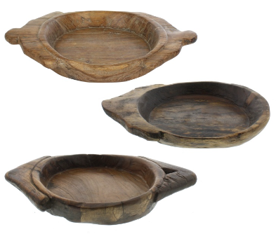 Salvaged Wood Dough Bowl