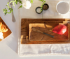 Rectangular Teak Trays, Set of Three
