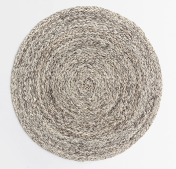 Raffia Placemats, Mixed Gray, Set of Four