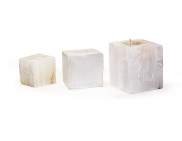 Selenite Votives - Set of Three