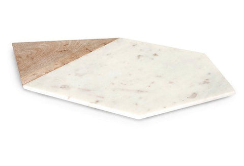 Verena Large Marble and Wood Cheese Board - Large