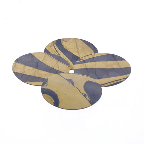 Marbleized leather coasters S/6