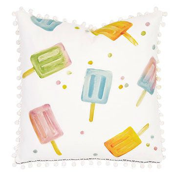 Hand Painted Popsicle Pillow