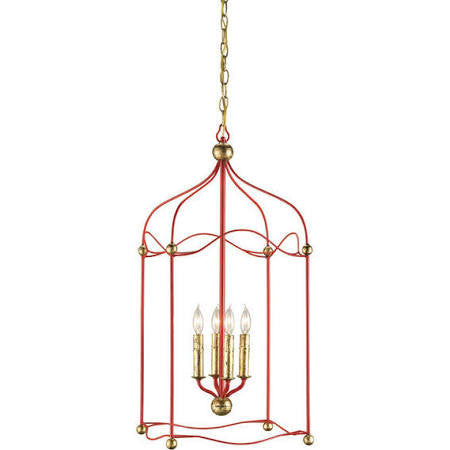 Red Carousel Lantern by Currey & Co.