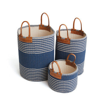 Rugby Baskets- Set of 3