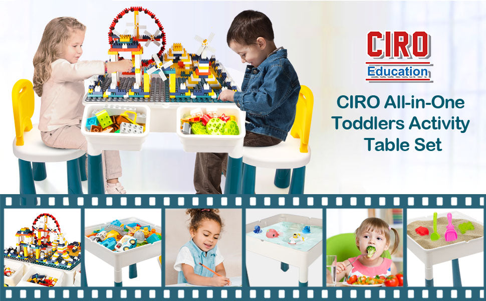 All-in-One Toddler Activity Table Set