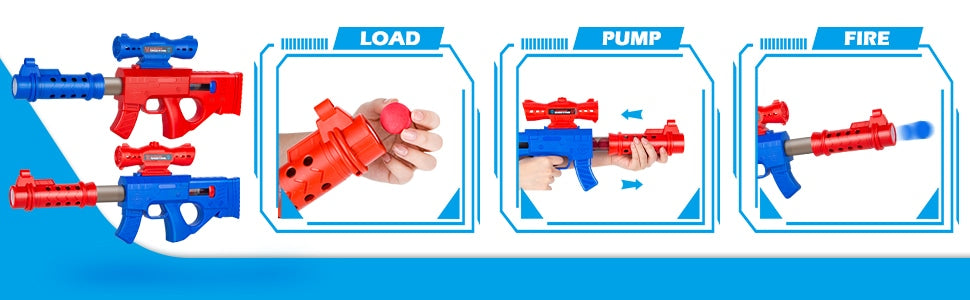 How to use the popper guns