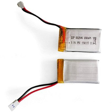 GP TOYS F2/F2C Black Aviax 3.7V 650mAh 25C Lipo Battery(2 PCS), Spare NO. GP009 - GP TOYS