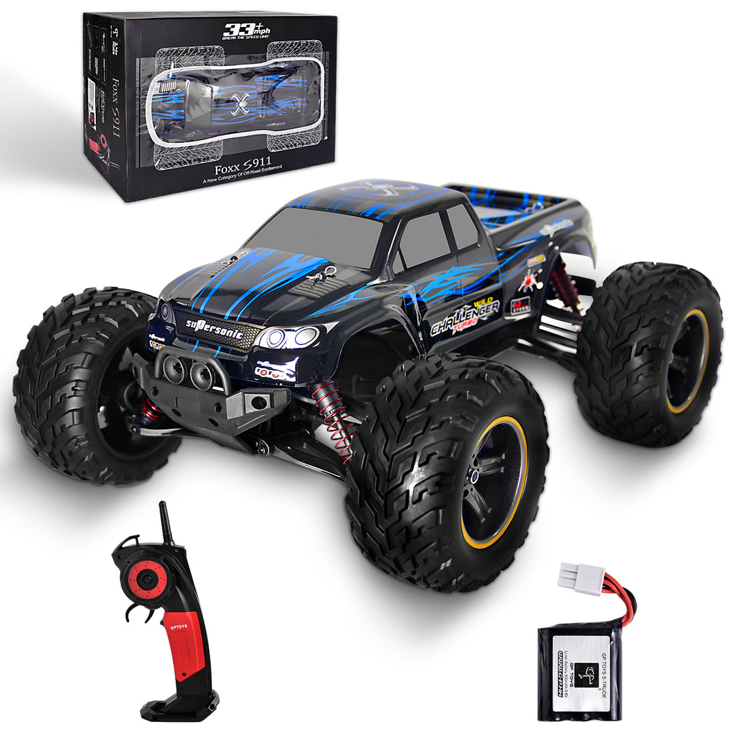 GP TOYS FOXX S911 1/12 2WD 2.4GHz RC Truck Shaft Drive Off-road Vehicle  (Blue)