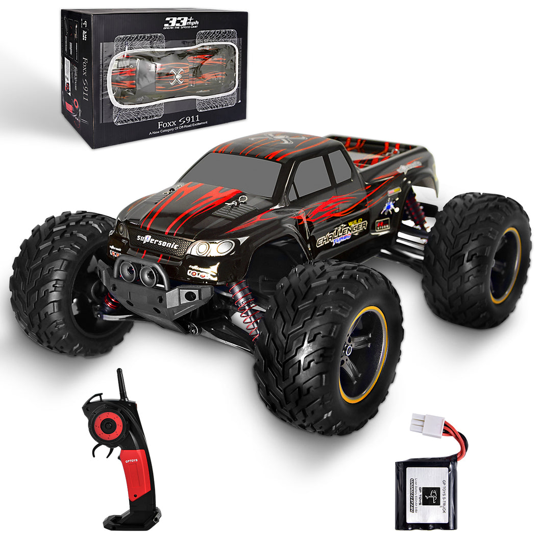 GP TOYS FOXX S911 1/12 2WD 2.4GHz RC Truck Shaft Drive Off-road Vehicle   (Red)