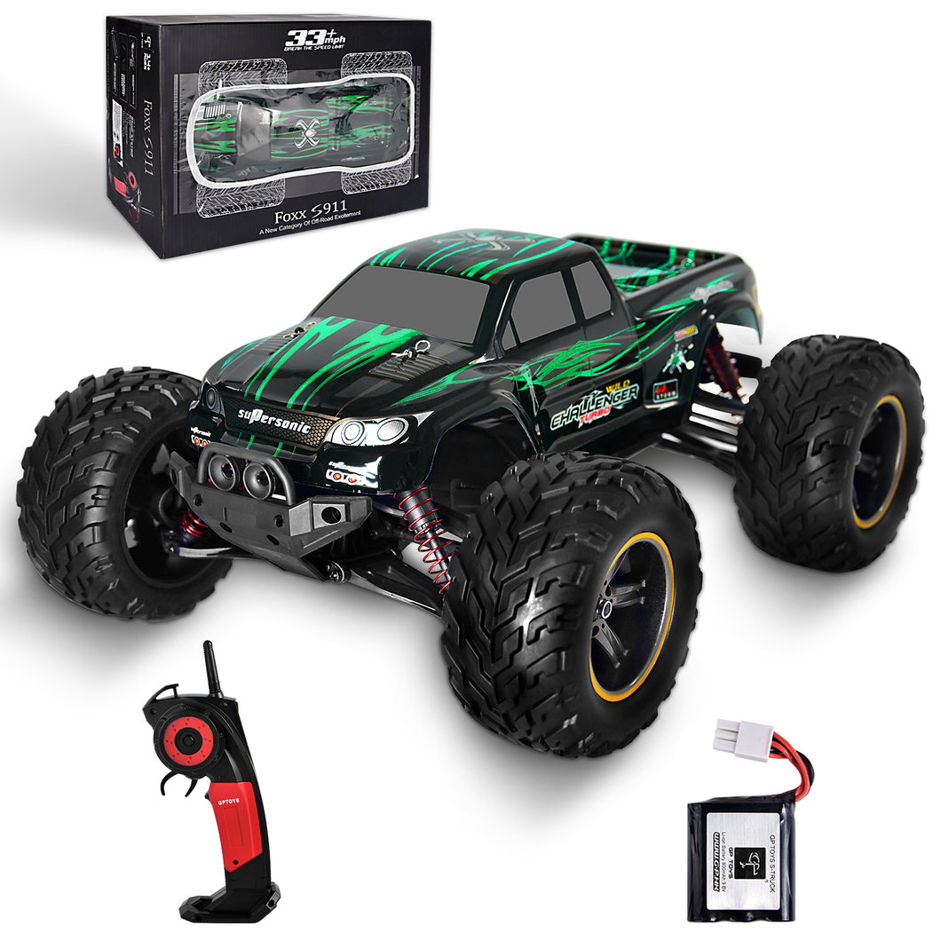 GP TOYS FOXX S911 1/12 2WD 2.4GHz RC Truck Shaft Drive Off-road Vehicle(Green)