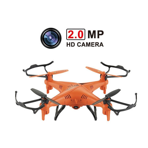 GP TOYS Middax F51 Mini Waterproof Drone Remote Control Quadcopter with 2.0MP HD Camera - Orange
