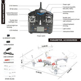 GP TOYS F2C Aviax RC Quadcopter Drone & HD Camera & LED Lights & 4G SD Card & SD Card Reader