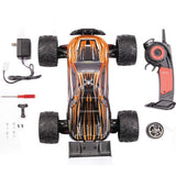 GP TOYS Hobby RC Car LUCTAN S912 , All Terrain 33+MPH 1/12 Scale Off Road Electric Waterproof 2WD Monster Truggy (Orange) - GP TOYS
