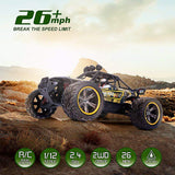 GPTOYS 1:12 Remote Control Off Road Truck Hobby Grade Army Green Monster Crawler FlamePeace S916