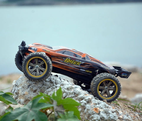 GP TOYS Hobby RC Car LUCTAN S912 , All Terrain 33+MPH 1/12 Scale Off Road  Electric Waterproof 2WD Monster Truggy (Orange)