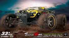Load image into Gallery viewer, GP TOYS LUCTAN S912 1/12 Scale   , All Terrain 33+MPH  Electric Waterproof  Hobby RC Car Monster Truggy(Yellow)