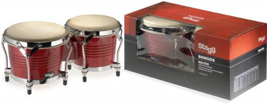 "Stagg cherry wood 7.5""/6.5"" bongos"