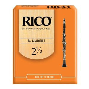 RICO CLARINET 2.5 (BOX OF 10)