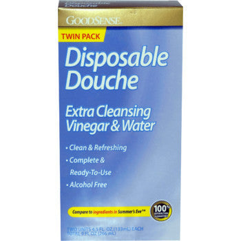 HEALTH & BEAUTY, Men/Women's Health - GOOD SENSE DISPOSABLE DOUCHE TWIN PACK- 4.5 Oz (VINEGAR + WATER)