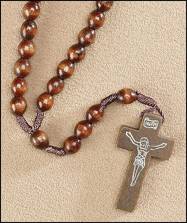 RELIGIOUS & SPIRITUAL, Items - DARK BROWN CORDED ROSARY