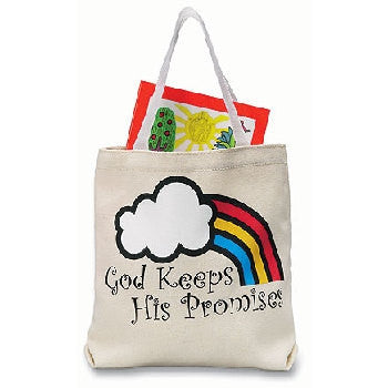 "RELIGIOUS & SPIRITUAL, Items - GOD KEEPS HIS PROMISES TOTE BAG  ""God Keeps His Promises"" Tote Bags. 8.5"" X 8.5"". Canvas."
