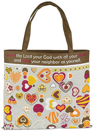 RELIGIOUS & SPIRITUAL, Items - LOVE THE LORD YOUR HEART TOTE BAG