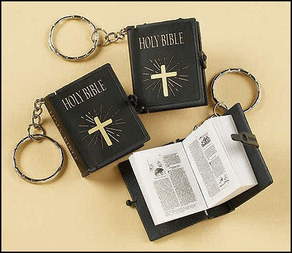 RELIGIOUS & SPIRITUAL, Items - MINI PLASTIC BIBLE KEYCHAINS