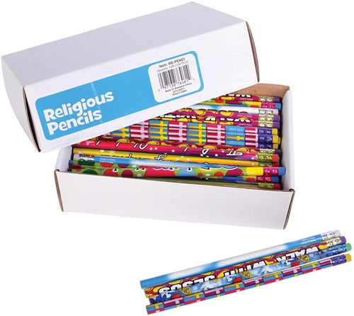 "RELIGIOUS & SPIRITUAL, Items - RELIGIOUS PENCILS- 7.5"" SET OF 6  7.5"""