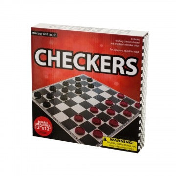 TOYS & CRAFTS, Indoor Toys/Games - *SMALL FOLDING CHECKERS GAME