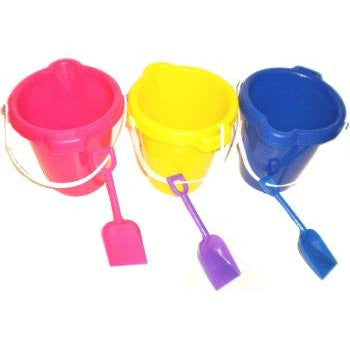 TOYS & CRAFTS, Outdoor Toys/Games - PLASTIC BEACH PAILS/BUCKETS W/ SHOVEL SET