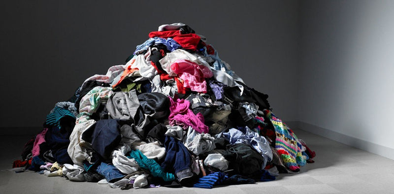 What happens to clothing that goes unsold?