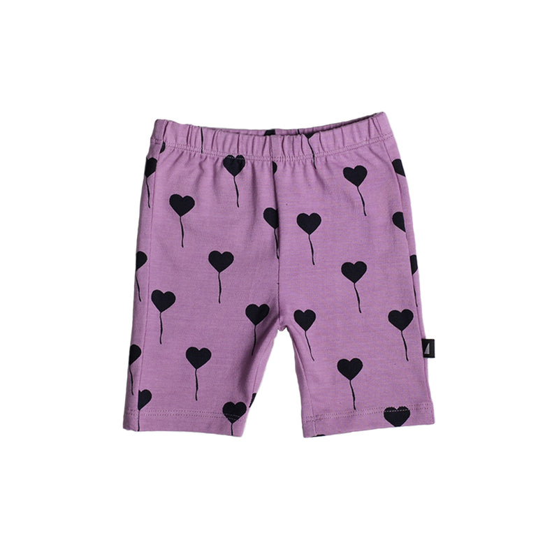 LILAC BALLOON AOP BIKE PANTS