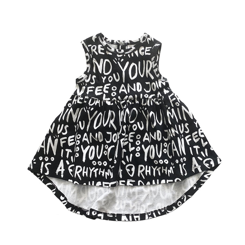 DANCER AOP SLEEVELESS DRESS