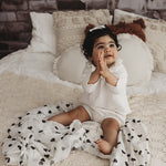 OFFWHITE BALLOON MUSLIN SWADDLE