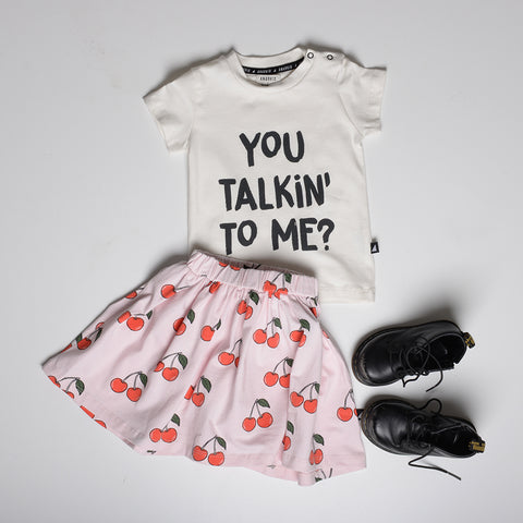 YOU TALKIN TO ME SS TEE CHALK