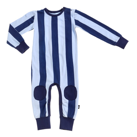 BLOCK STRIPE ROMPER NAVY