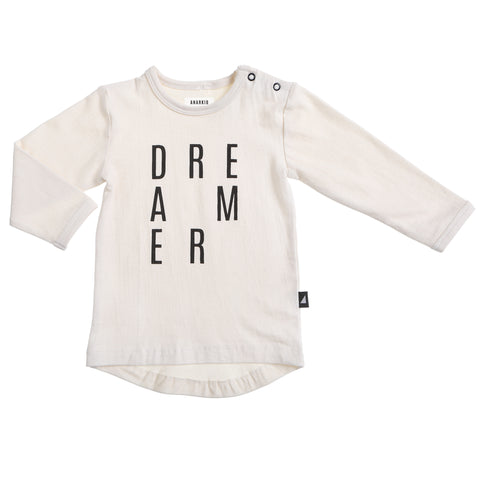 DREAMER LS TEE LILY WHITE