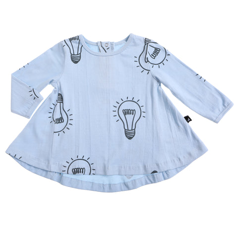 LIGHT BULB AOP LS OVERSIZED DRESS